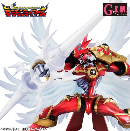 デジモンテイマーズ デュークモン:クリムゾンモード フィギュアが一部店舗限定で登場!白い翼を身に纏い、細部までこだわった鎧姿で立体化! 0728hobby-gem-IM001
