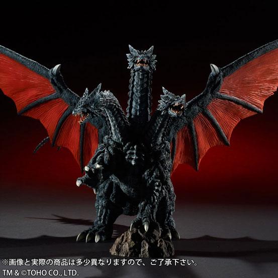 東宝大怪獣シリーズ デスギドラ ソフビ が登場!両翼の先から先まで約68cmのビックサイズ! 1111hobby-gidora-IM002