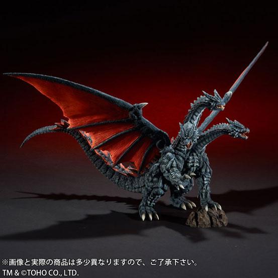 東宝大怪獣シリーズ デスギドラ ソフビ が登場!両翼の先から先まで約68cmのビックサイズ! 1111hobby-gidora-IM004