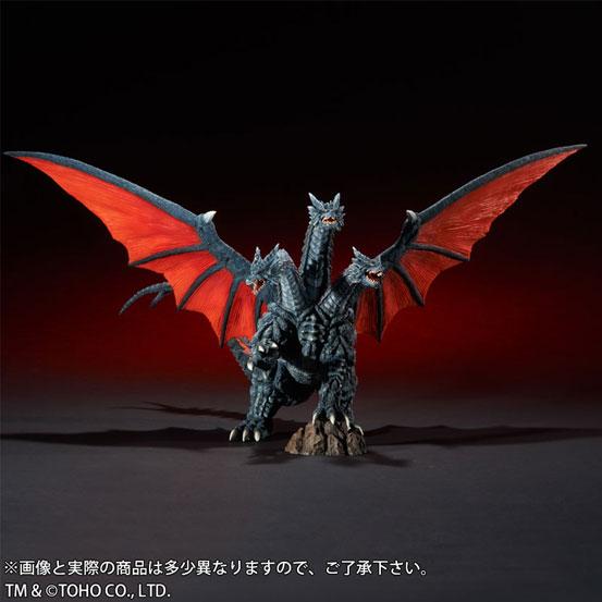東宝大怪獣シリーズ デスギドラ ソフビ が登場!両翼の先から先まで約68cmのビックサイズ! 1111hobby-gidora-IM006