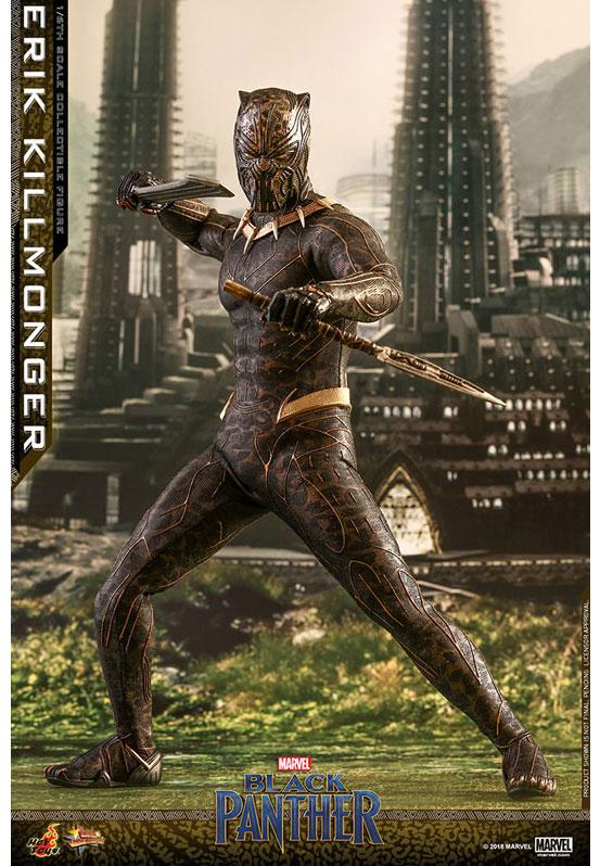 ムービー・マスターピース ブラックパンサー エリック・キルモンガー ホットトイズ 可動フィギュアが予約開始!ジャガーの柄のスーツを再現! 0227hobby-erik-IM001