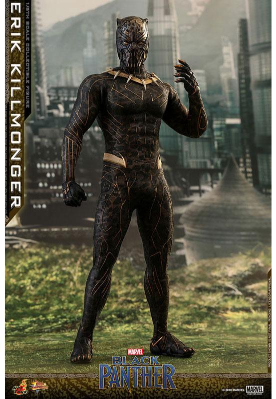 ムービー・マスターピース ブラックパンサー エリック・キルモンガー ホットトイズ 可動フィギュアが予約開始!ジャガーの柄のスーツを再現! 0227hobby-erik-IM002