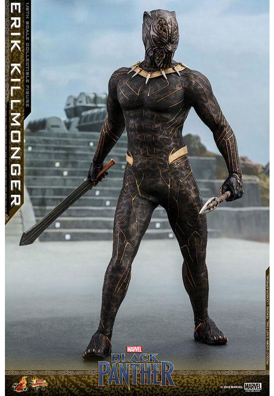 ムービー・マスターピース ブラックパンサー エリック・キルモンガー ホットトイズ 可動フィギュアが予約開始!ジャガーの柄のスーツを再現! 0227hobby-erik-IM003