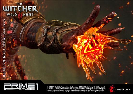 ウィッチャー3 ワイルドハント ゲラルト スケリッジ・アーマー 1/4フィギュアが予約開始!左手にはLEDライトが内蔵し魔法を展開! 0707hobby-witcher-IM006