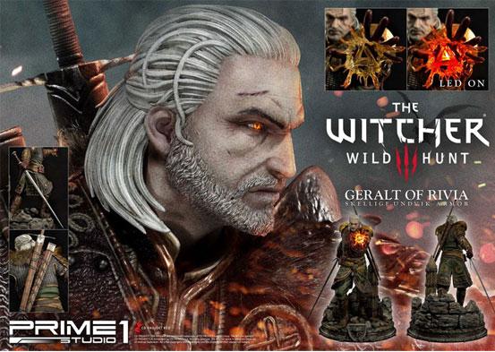 ウィッチャー3 ワイルドハント ゲラルト スケリッジ・アーマー 1/4フィギュアが予約開始!左手にはLEDライトが内蔵し魔法を展開! 0707hobby-witcher-IM008