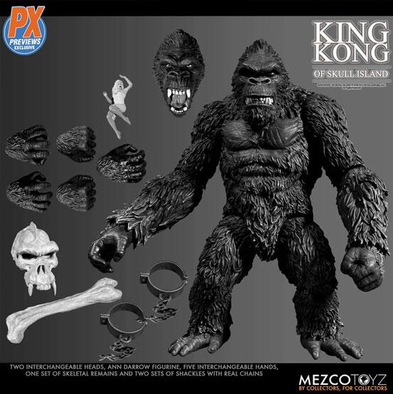 キング・コング スカル・アイランド プレビュー限定 ブラック&ホワイト ver が予約開始!限定版として頭蓋骨などが追加付属! 0721hobby-kingkong-IM001