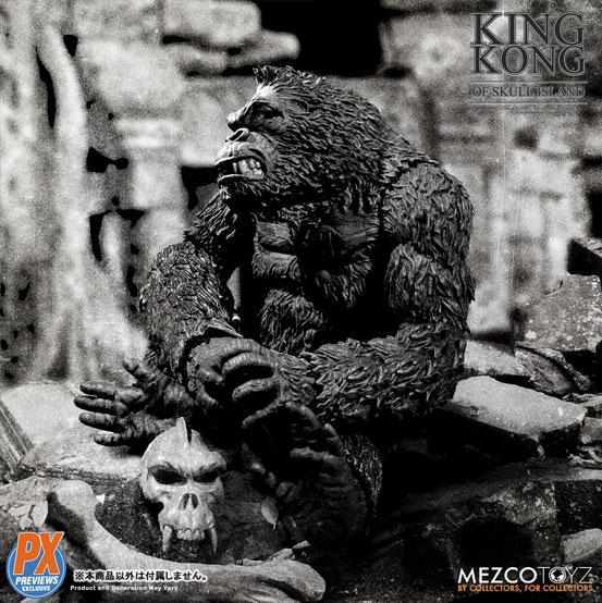 キング・コング スカル・アイランド プレビュー限定 ブラック&ホワイト ver が予約開始!限定版として頭蓋骨などが追加付属! 0721hobby-kingkong-IM002