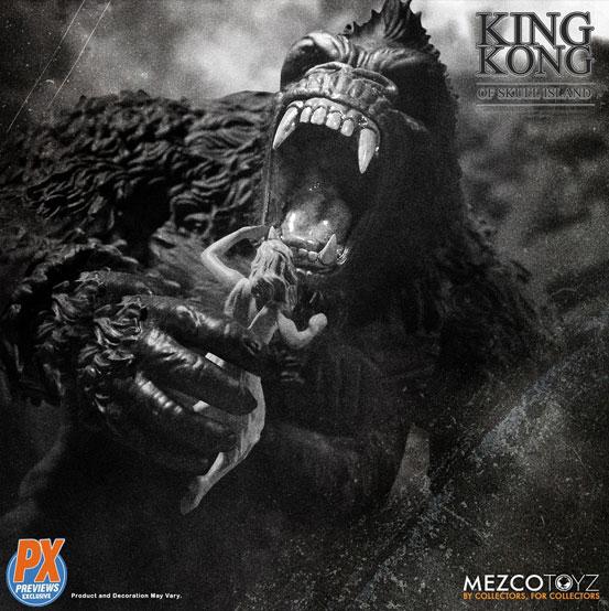 キング・コング スカル・アイランド プレビュー限定 ブラック&ホワイト ver が予約開始!限定版として頭蓋骨などが追加付属! 0721hobby-kingkong-IM003