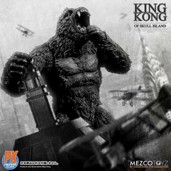 キング・コング スカル・アイランド プレビュー限定 ブラック&ホワイト ver が予約開始!限定版として頭蓋骨などが追加付属! 0721hobby-kingkong-IM007