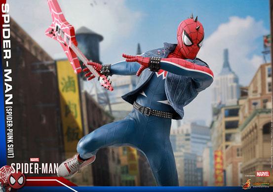 ビデオゲーム・マスターピース 1/6 スパイダーマン(スパイダー・パンク・スーツ版) 可動フィギュアが予約開始! 0910hobby-spidy-punk-IM006