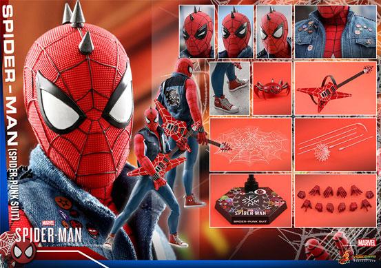 ビデオゲーム・マスターピース 1/6 スパイダーマン(スパイダー・パンク・スーツ版) 可動フィギュアが予約開始! 0910hobby-spidy-punk-IM008