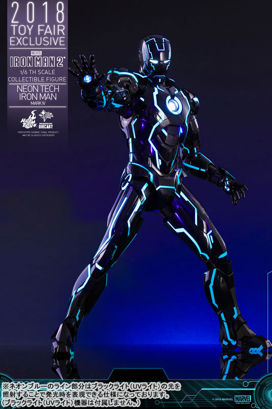 ムービー・マスターピース DIECAST アイアンマン・マーク4 ネオンテック版 可動フィギュアがみあみ限定で予約開始! 1116hobby-ironman-IM007