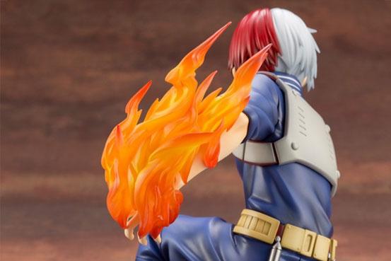 ARTFX J 僕のヒーローアカデミア 轟 焦凍 コトブキヤ フィギュアが予約開始!炎パーツは取り外し可能! 0122hobby-todoroki-IM004