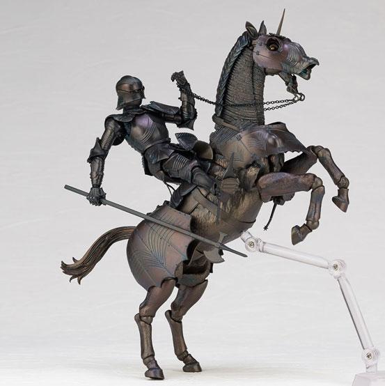 タケヤ式自在置物 15世紀ゴチック式エクエストリアンアーマー 海洋堂 可動フィギュアが登場!騎手用甲冑と軍馬のセット!馬上槍も付属! 0201hobby-armer-IM001