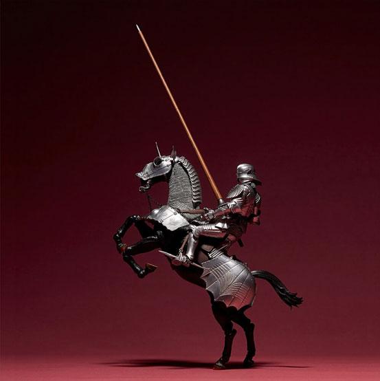 タケヤ式自在置物 15世紀ゴチック式エクエストリアンアーマー 海洋堂 可動フィギュアが登場!騎手用甲冑と軍馬のセット!馬上槍も付属! 0201hobby-armer-IM007