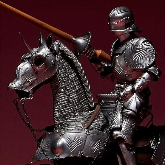 タケヤ式自在置物 15世紀ゴチック式エクエストリアンアーマー 海洋堂 可動フィギュアが登場!騎手用甲冑と軍馬のセット!馬上槍も付属! 0201hobby-armer-IM008