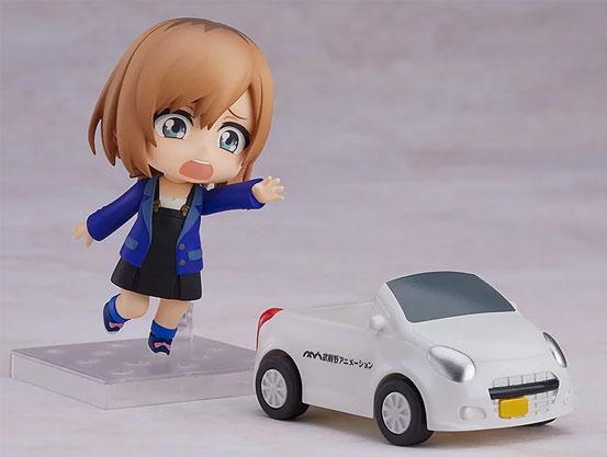 ねんどろいど「SHIROBAKO 宮森あおい」グッスマ 可動フィギュアが予約開始!ムサニロゴ入りの社用車も付属! 0314hobby-miyamori-IM004