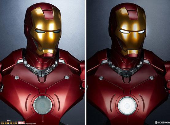 『アイアンマン』 等身大バスト アイアンマン・マーク3 サイドショウが予約開始!全高約68cmの等身大バスト! 0511hobby-ironman-IM001