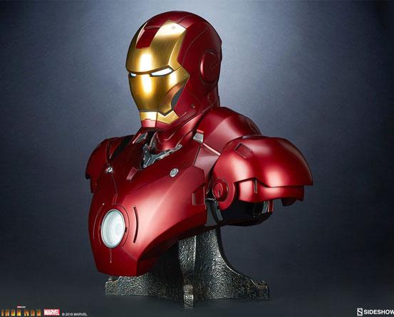 『アイアンマン』 等身大バスト アイアンマン・マーク3 サイドショウが予約開始!全高約68cmの等身大バスト! 0511hobby-ironman-IM002