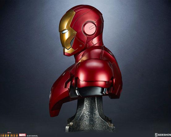 『アイアンマン』 等身大バスト アイアンマン・マーク3 サイドショウが予約開始!全高約68cmの等身大バスト! 0511hobby-ironman-IM003