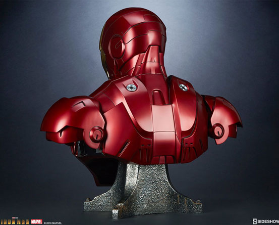 『アイアンマン』 等身大バスト アイアンマン・マーク3 サイドショウが予約開始!全高約68cmの等身大バスト! 0511hobby-ironman-IM004