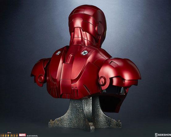 『アイアンマン』 等身大バスト アイアンマン・マーク3 サイドショウが予約開始!全高約68cmの等身大バスト! 0511hobby-ironman-IM006