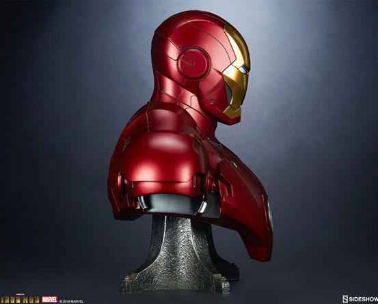 『アイアンマン』 等身大バスト アイアンマン・マーク3 サイドショウが予約開始!全高約68cmの等身大バスト! 0511hobby-ironman-IM007