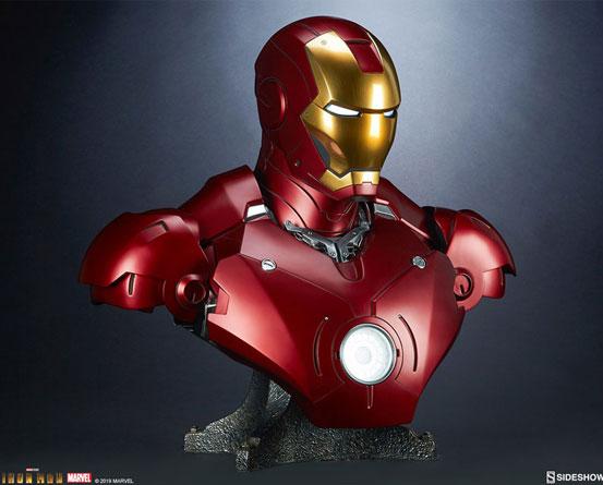『アイアンマン』 等身大バスト アイアンマン・マーク3 サイドショウが予約開始!全高約68cmの等身大バスト! 0511hobby-ironman-IM008