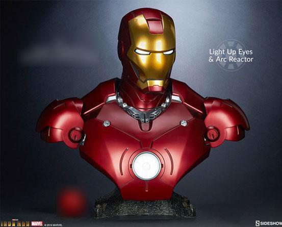 『アイアンマン』 等身大バスト アイアンマン・マーク3 サイドショウが予約開始!全高約68cmの等身大バスト! 0511hobby-ironman-IM009