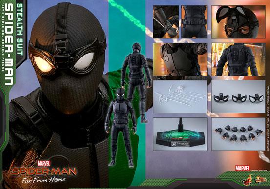 【入荷】ムービー・マスターピース『スパイダーマン:ファー・フロム・ホーム』「スパイダーマン(ステルススーツ版)」可動フィギュアが登場! 0626hobby-spiderman-IM005