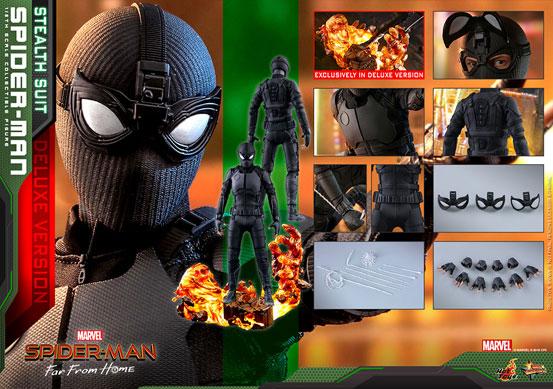 【入荷】ムービー・マスターピース『スパイダーマン:ファー・フロム・ホーム』「スパイダーマン(ステルススーツ版)」可動フィギュアが登場! 0626hobby-spiderman-IM008