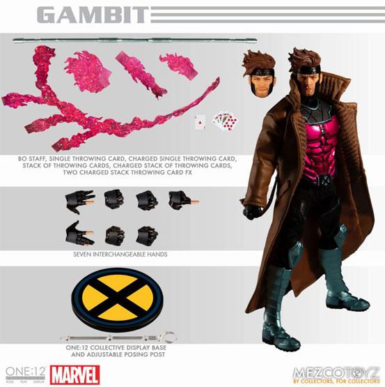 ワン12コレクティブ/ マーベルコミック: ガンビット 可動フィギュアが予約開始!トレンチコートは布製! 1016hobby-gunbit-IM006
