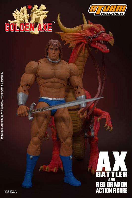 ゴールデンアックス アックス=バトラー & レッドドラゴン アクションフィギュア セットが予約開始! 1102hobby-goldenAxe-IM001