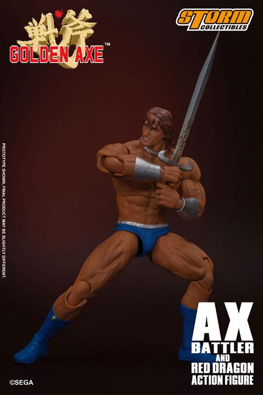 ゴールデンアックス アックス=バトラー & レッドドラゴン アクションフィギュア セットが予約開始! 1102hobby-goldenAxe-IM003