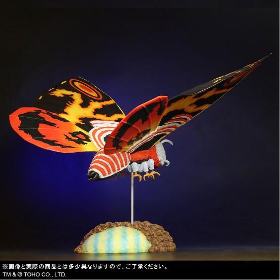 東宝大怪獣シリーズ 「ゴジラVSモスラ」 モスラ(1992) プレックス フィギュアが予約開始! 0209hobby-mosura-IM003