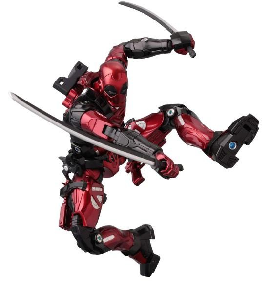 ファイティングアーマー デッドプール 千値練 可動フィギュアが予約開始!刀、手裏剣、銃など武器パーツが付属! 0401hobby-DP-IM003
