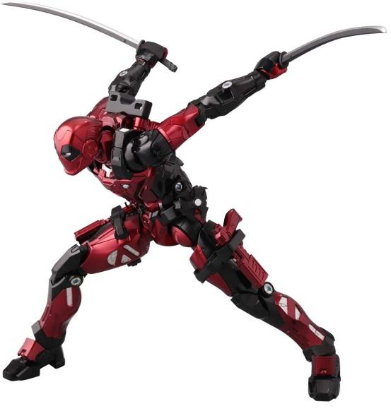 ファイティングアーマー デッドプール 千値練 可動フィギュアが予約開始!刀、手裏剣、銃など武器パーツが付属! 0401hobby-DP-IM004